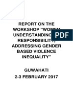 Guwahati Workshop Final Report