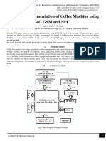 Hardware Implementation of Coffee Machine using 4G GSM and NFC