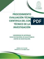 Evaluación Técnico- Cientifica CTI