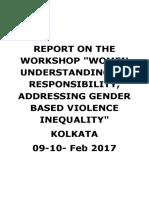"""Kolkatta GBV Workshop - RANCHI GBV WORKSHOP – """"WOMEN"""