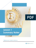 Lesson 1 notes cryptocurrency