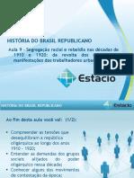 Aula_09 Historia do Brasil Republicano