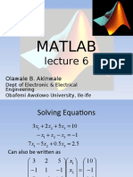 MAT LAB Lecture 6