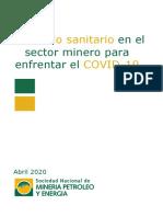 Sector Minero - Protocolo Sanitario Covid 19