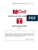 CivilEstudio. Manual del Usuario. Módulo Sección Compuesta