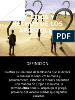 SESION 1B y 2A LA ETICA Y HECHOS DE LOS APOSTOLES