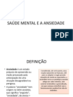 Saúde Mental e a Ansiedade