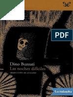 Las noches dificiles - Dino Buzzati.pdf