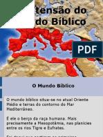 A extensao do mundo biblico