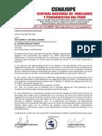 Carta de CENAJUPE a Presidente de la República y a Presidente del Consejo de Ministros   070420
