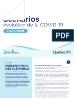 Quebec Covid-19 Scenarios –April 7, 2020