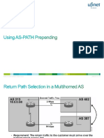 16. Using AS-PATH Prepending