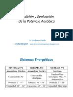 Medición y Evaluación de la Potencia Aeróbica - Lic. Guillermo Castillo