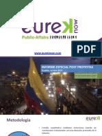 Eureka 2o19. V-1 Informe Especial Post Protestas