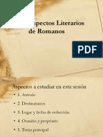 ASPECTO LITERARIO DE ROMANOS