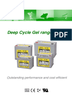 Deep cycle gel range