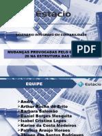 MUDANÇAS DO CPC 00 E CPC 26