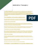 Gestión Administrativa,CONCEPTO Y BENEFICIOS