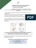 Productos Recomendados Para Desinfección Domiciliaria