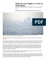 Air Pollution Linked to Far Higher Covid-19 Death Rates