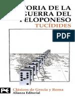 Tucídides - Historia de la Guerra del Peloponeso