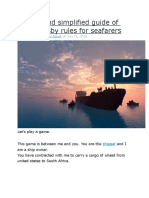 A basic and simplified guide of Hague Visby rules for seafarers