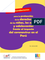 Recomendaciones Para Proteger a La Niñez Frente Al Impacto Del Coronavirus