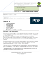 ACTA DE  RUTAS DE EVACUACION BOLEO MARTES