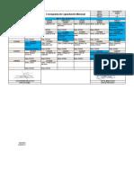 CRONOGRAMA DE CAPACITACIONES modelo