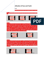 Classification of Face and Teeth