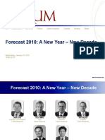 January M&A Flash Report - Forecast 2010
