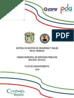 0. SISTEMA DE GESTION DE SEGURIDAD Y SALUD EN EL TRABAJO