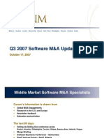 Corum's Q3 2007 Software M&a Update