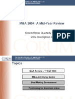 Midyear M&A Update Review