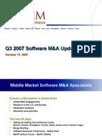 Corum's Q3 2007 Software M&a Update