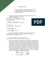 Ejercicio #5, capitulo #8, Control estadistico de calidad