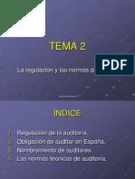 Tema 2 La regulación y las normas de auditoría