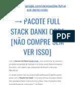 → Pacote FULL STACK Danki CODE [Não COMPRE Sem VER Isso]