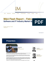 Software and IT Industry Market Update  - February M&A Flash Report