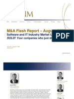 SOLD! Four companies who just did - August M&A Flash Report