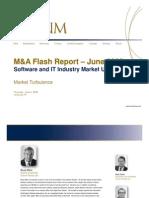 Market Turbulence - June Software/IT M&A Flash Report