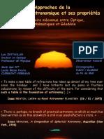2018 5. L. DETWILLER Approches réfraction astronomique