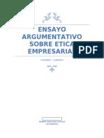 ensayo argumentativo sobre etica empresarial