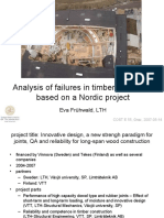Analysis of Failures in Timber Structures