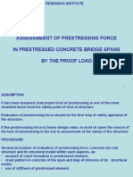 Assessment of Prestressing Force by Proof Load