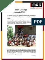 Community Challenge Cambodia 2010 - MAG International