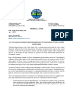 Virgin Islands Attorney General Letter