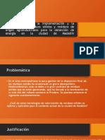 Procedimiento para la implementación y la valorización de residuos sólidos y residuos de origen agroindustriales para la obtención de energía en la ciudad de Medellín.pptx