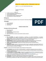 CONTENIDO DERECHO MERCANTIL I PRIMER PARCIAL