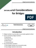 Structural Considerations Bridges